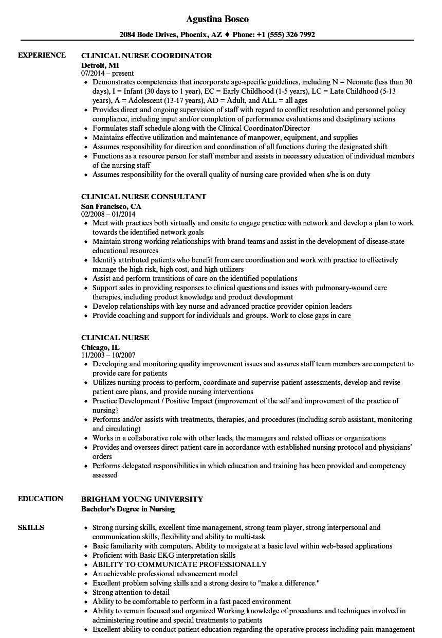 resume template for clinical nurse consultant  u2022 invitation