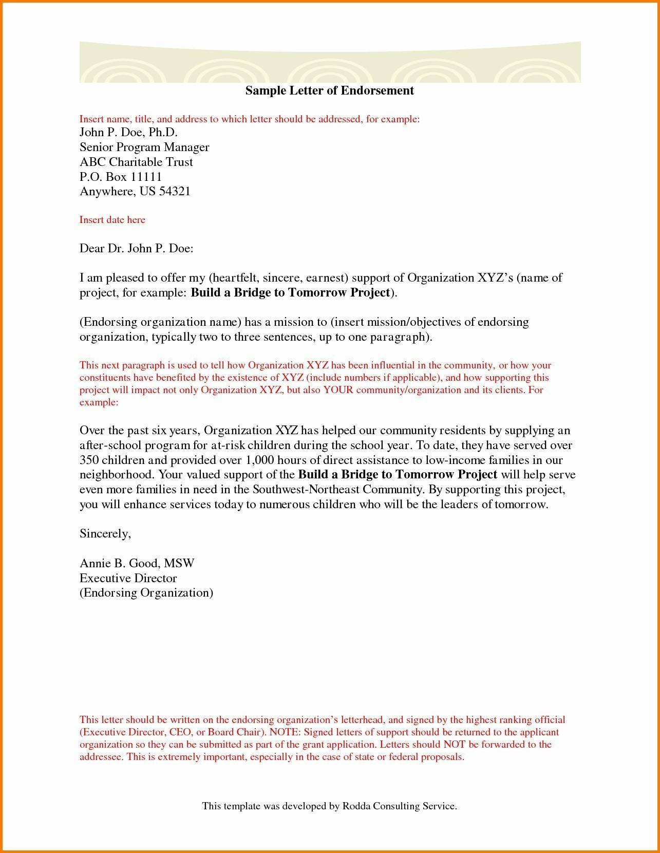 Sample Letter Of Support For Grant Application from howtostepmom.com