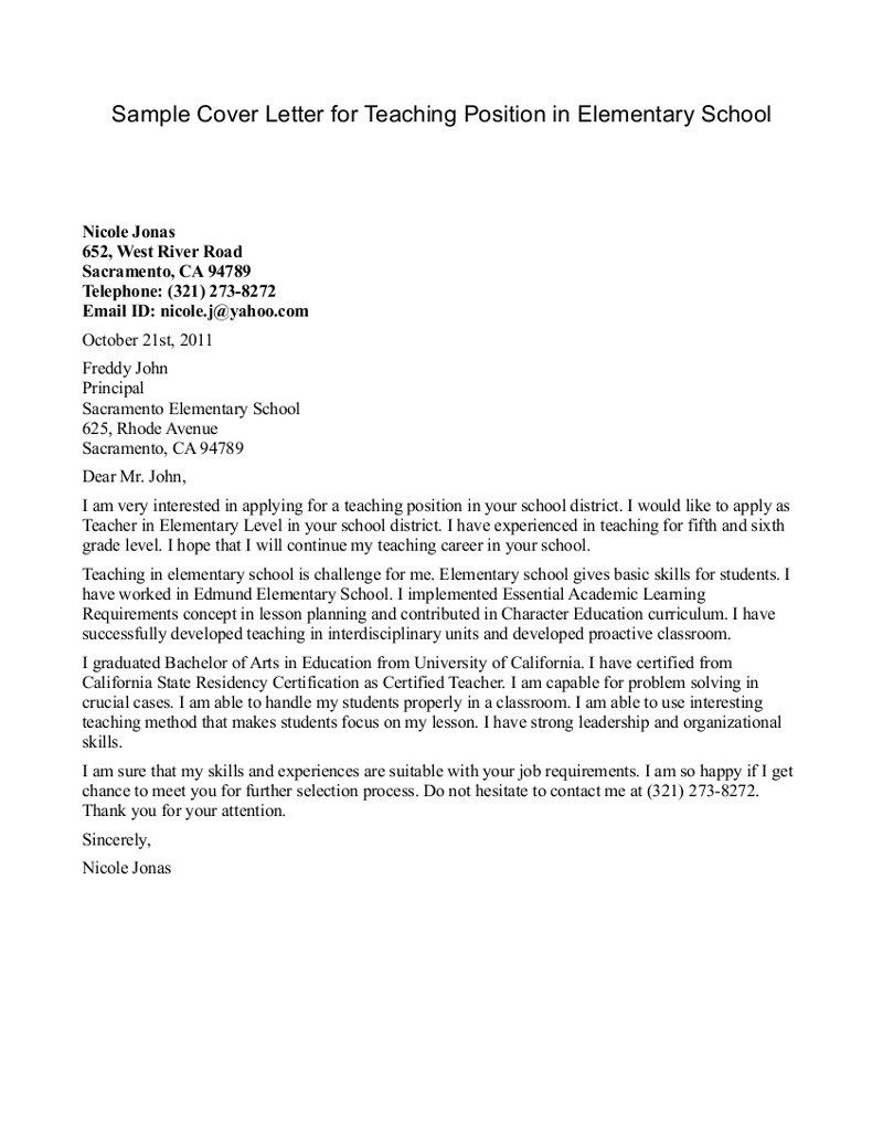 Cover Letter New Teacher Position New Teacher Talk Example with measurements 800 X 1036