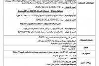 Cv Format English And Arabic Cv Format Cv Template Word with proportions 1131 X 1600