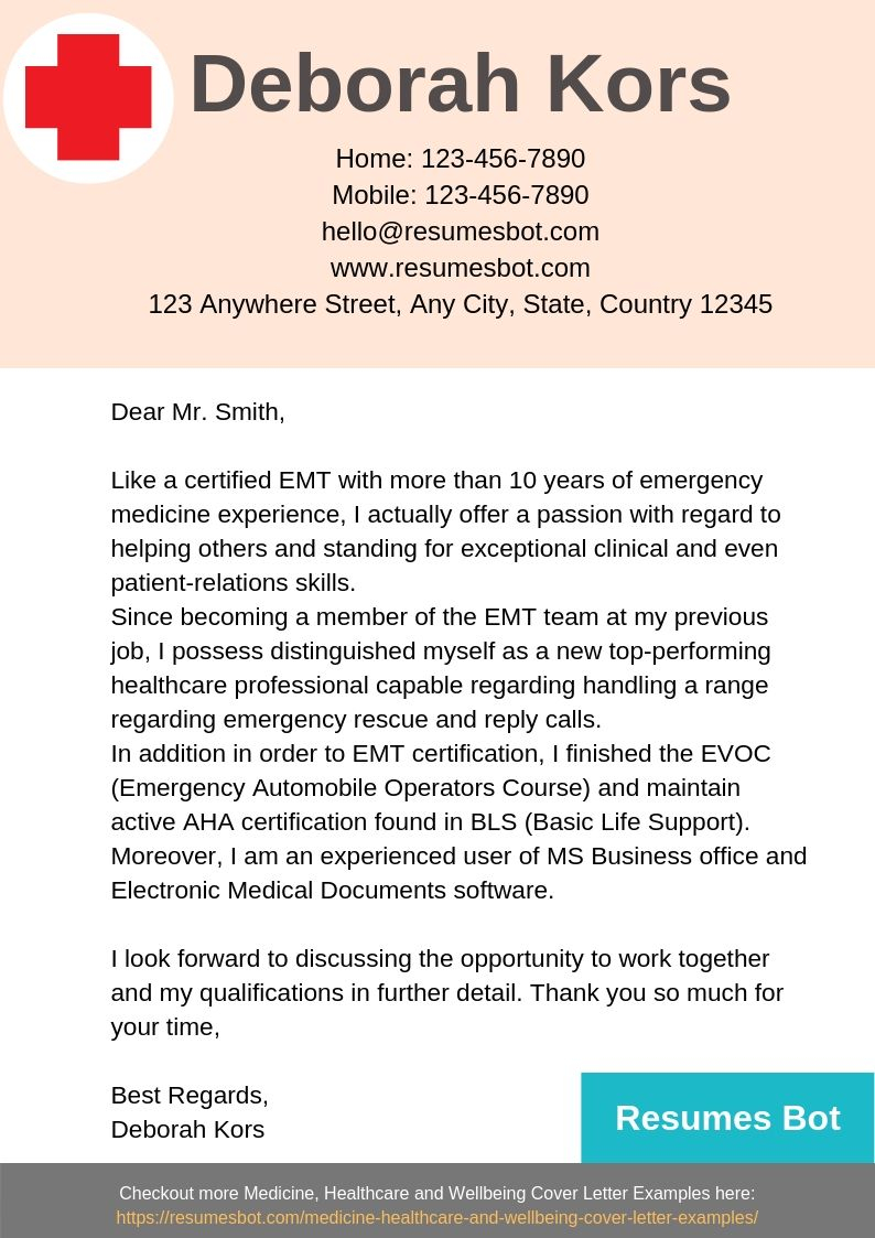 cover letter for emt • invitation template ideas