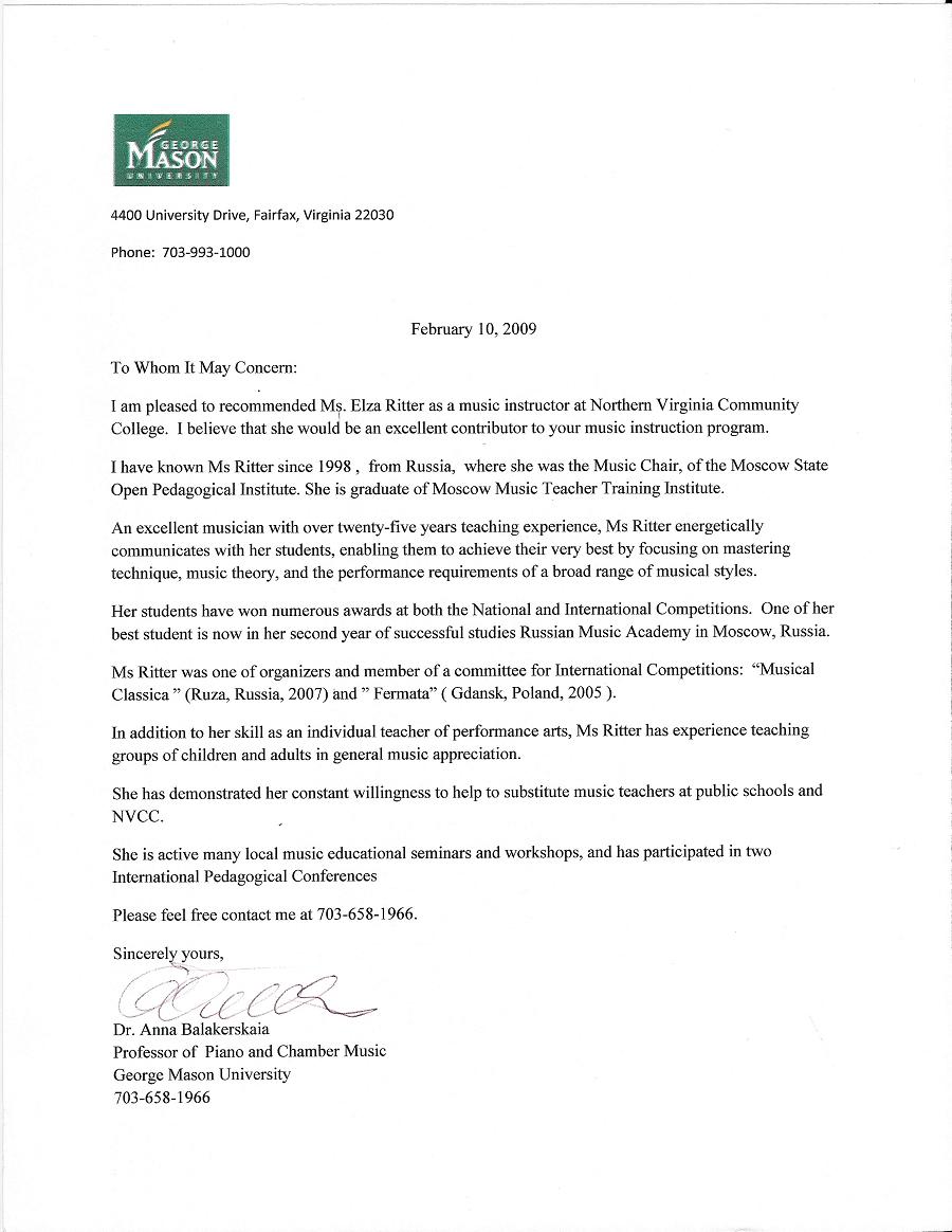 piano student reference letter  u2022 invitation template ideas