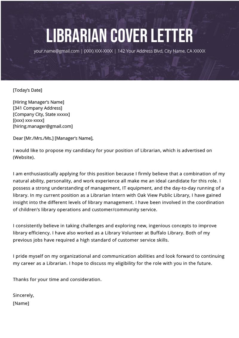 letter of recommendation for teacher librarian