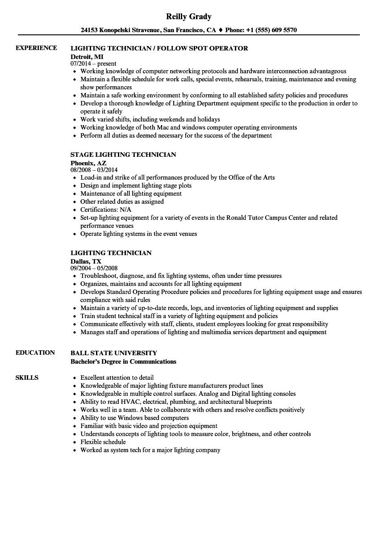 theatre technician cv template • invitation template ideas