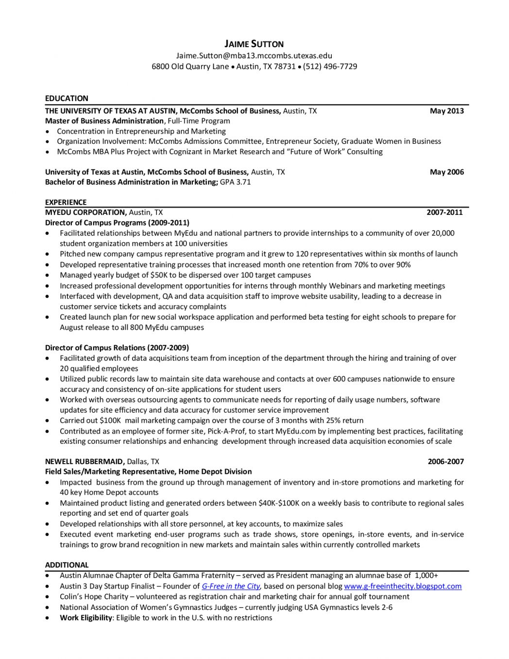 Mccombs Resume Templates Akali intended for sizing 1048 X 1356