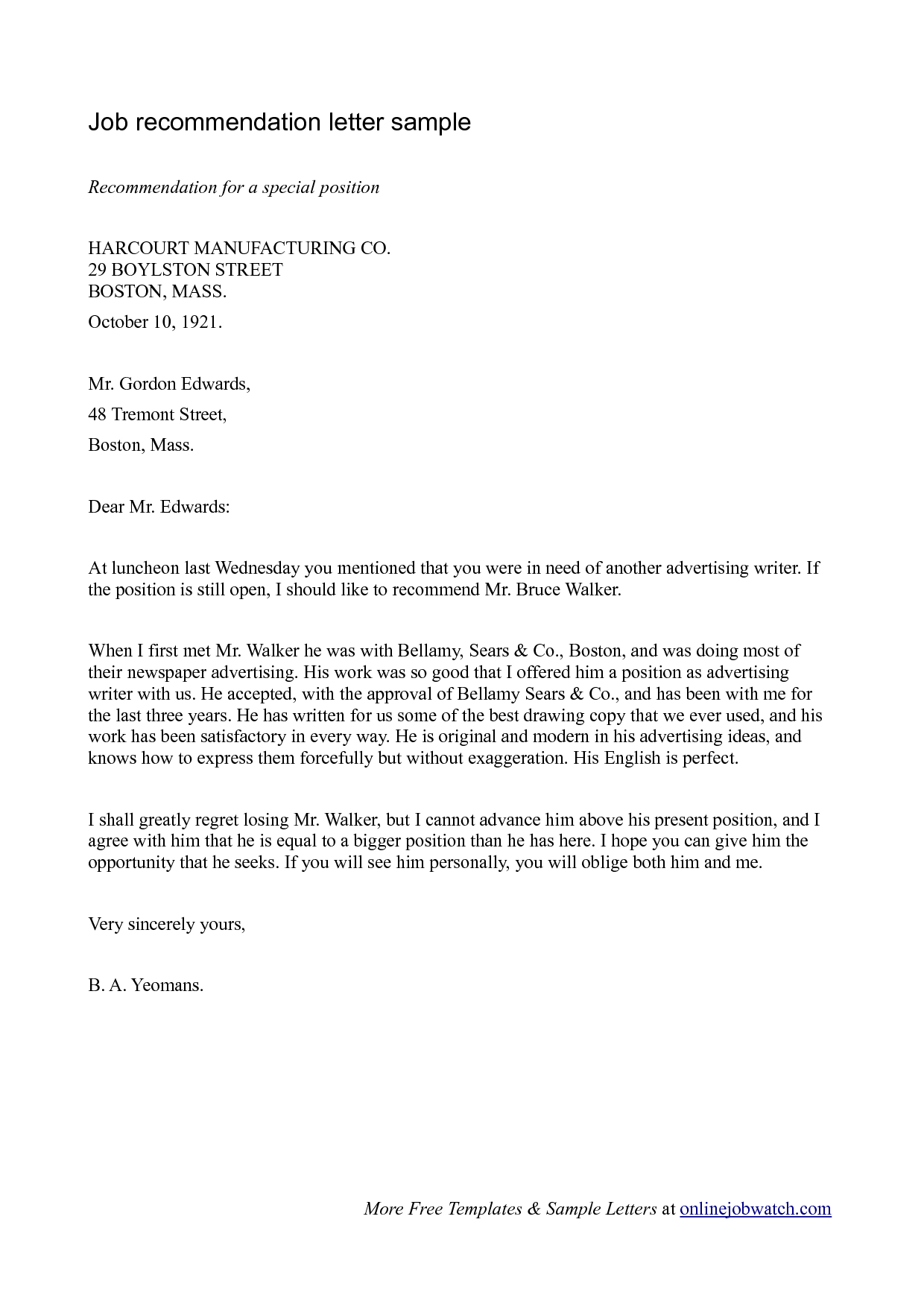 Professional Reference Letters Enom inside size 1240 X 1754