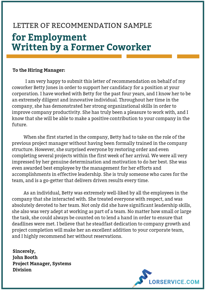 Recommendation Letter For A Coworker Sample On Behance intended for size 808 X 1143