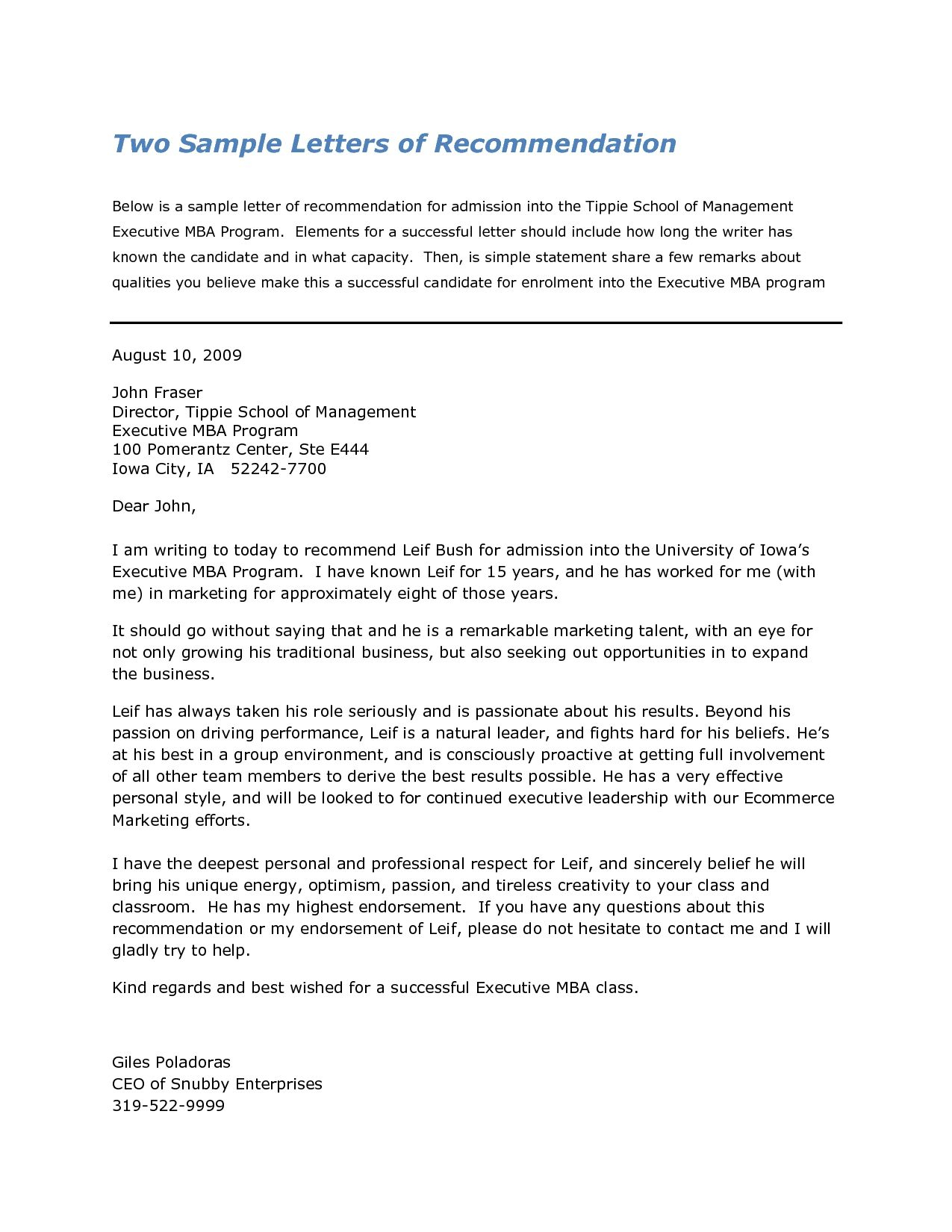 Recommendation Letter For Harvard Business School Pertaining inside proportions 1275 X 1650