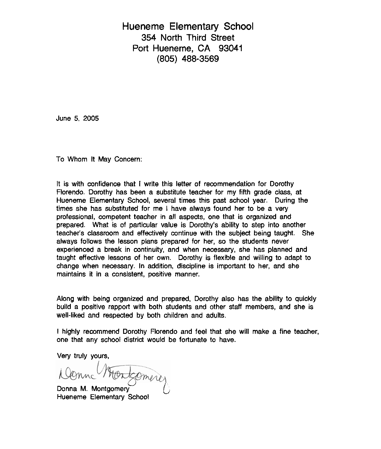 Recommendation Letter Sample For Teacher From Student Http intended for measurements 1275 X 1501