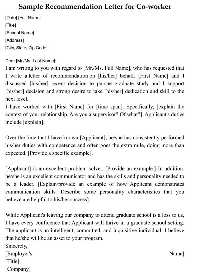 Reference Letter For Coworker Example Akali pertaining to measurements 750 X 1061