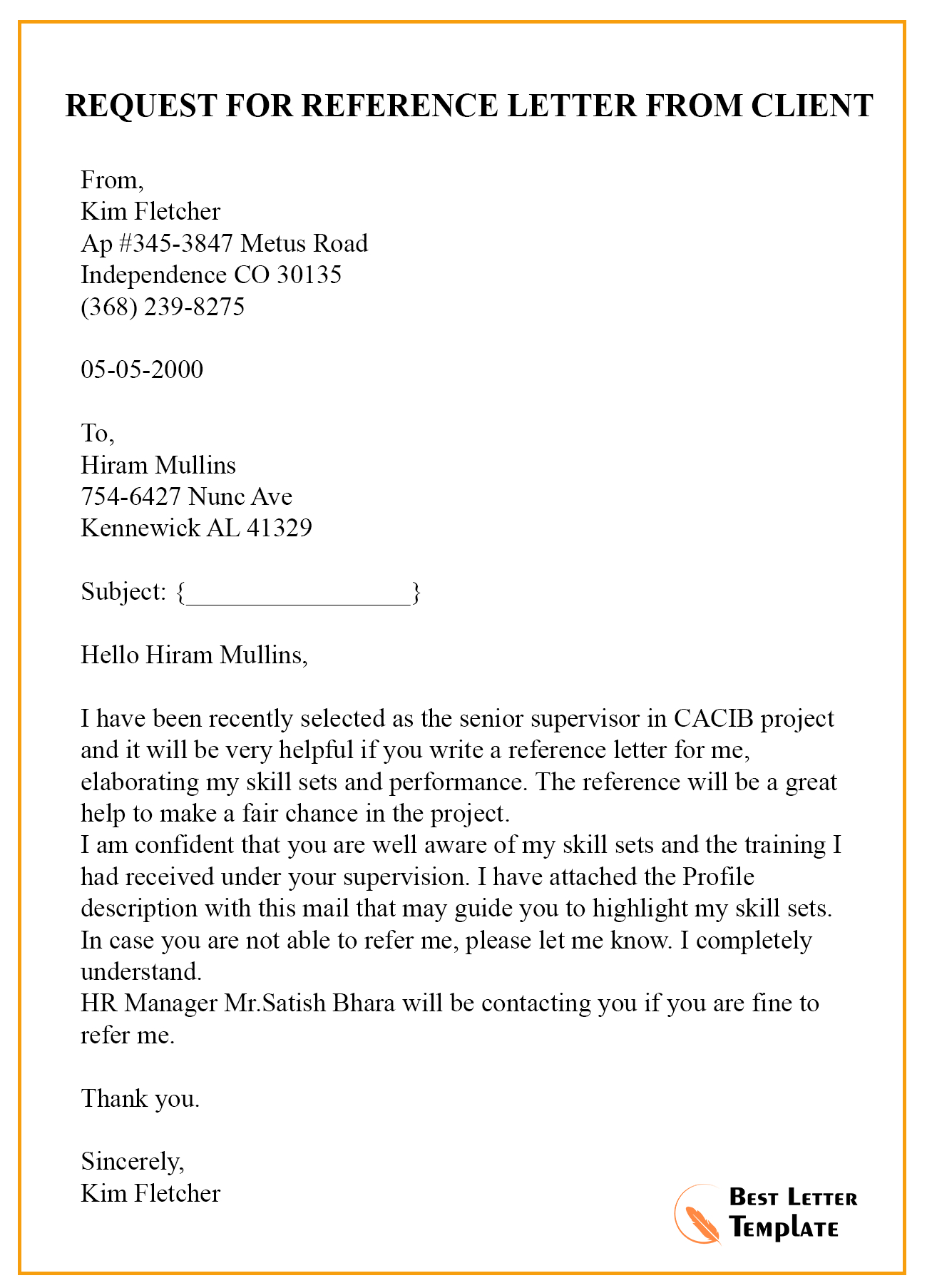 Request Letter Template For Recommendation Sample Example in proportions 1300 X 1806
