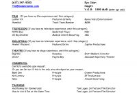Resume For Child Actor Scope Of Work Template Acting Resume for sizing 1275 X 1650