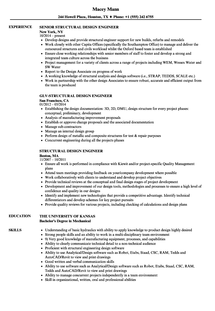 free structural engineer resume template • invitation