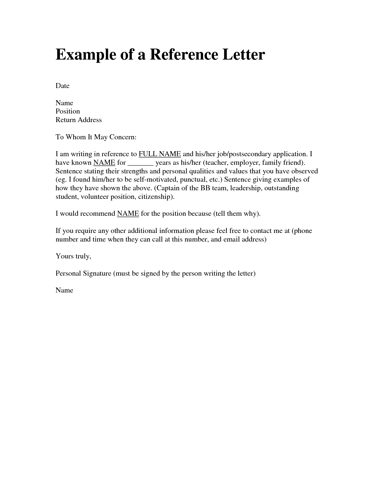 Sample Personal Character Reference Letter For A Friend inside proportions 1275 X 1650