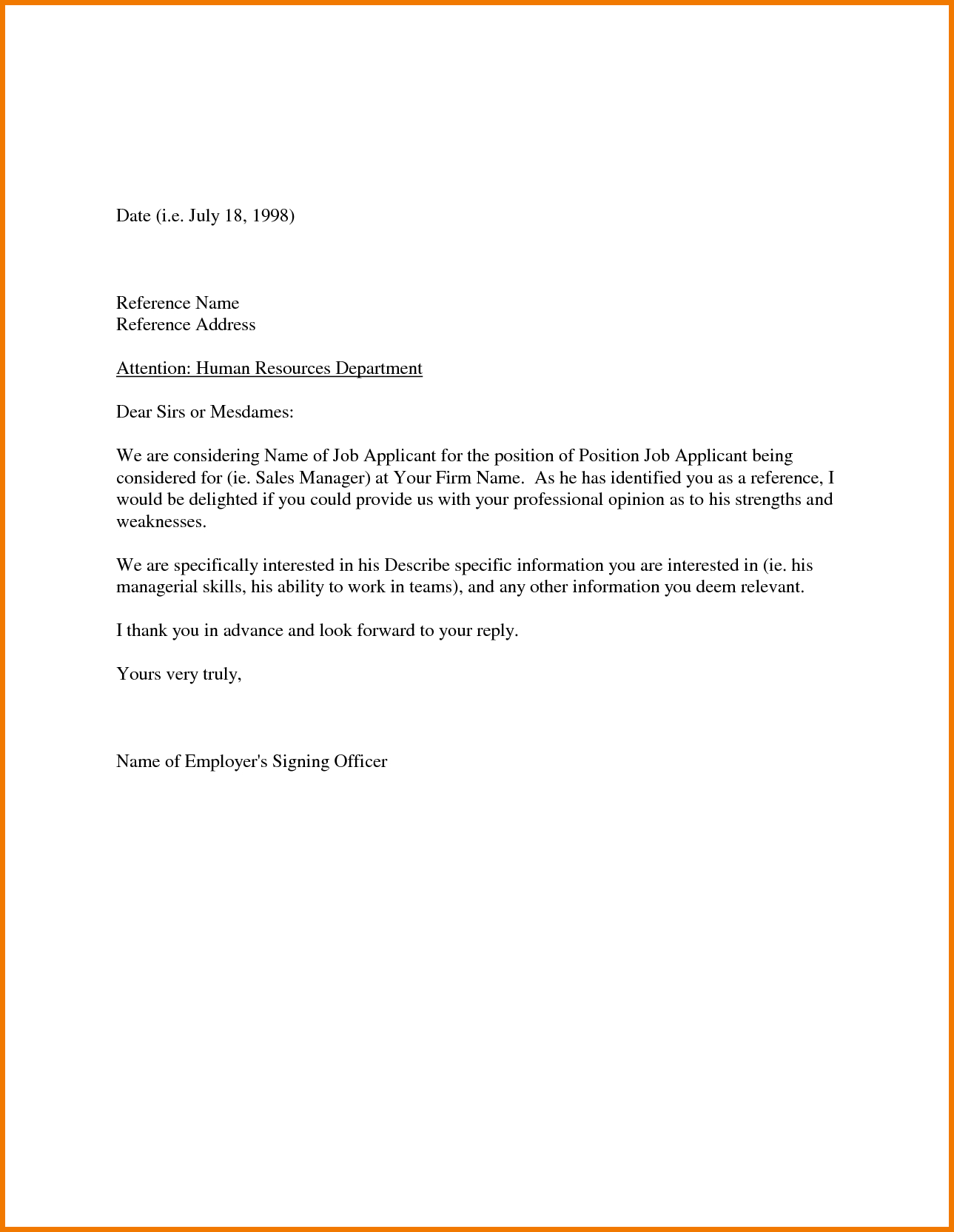 Sample Recommendation Letter From Employer Appeal Letters within size 1289 X 1664