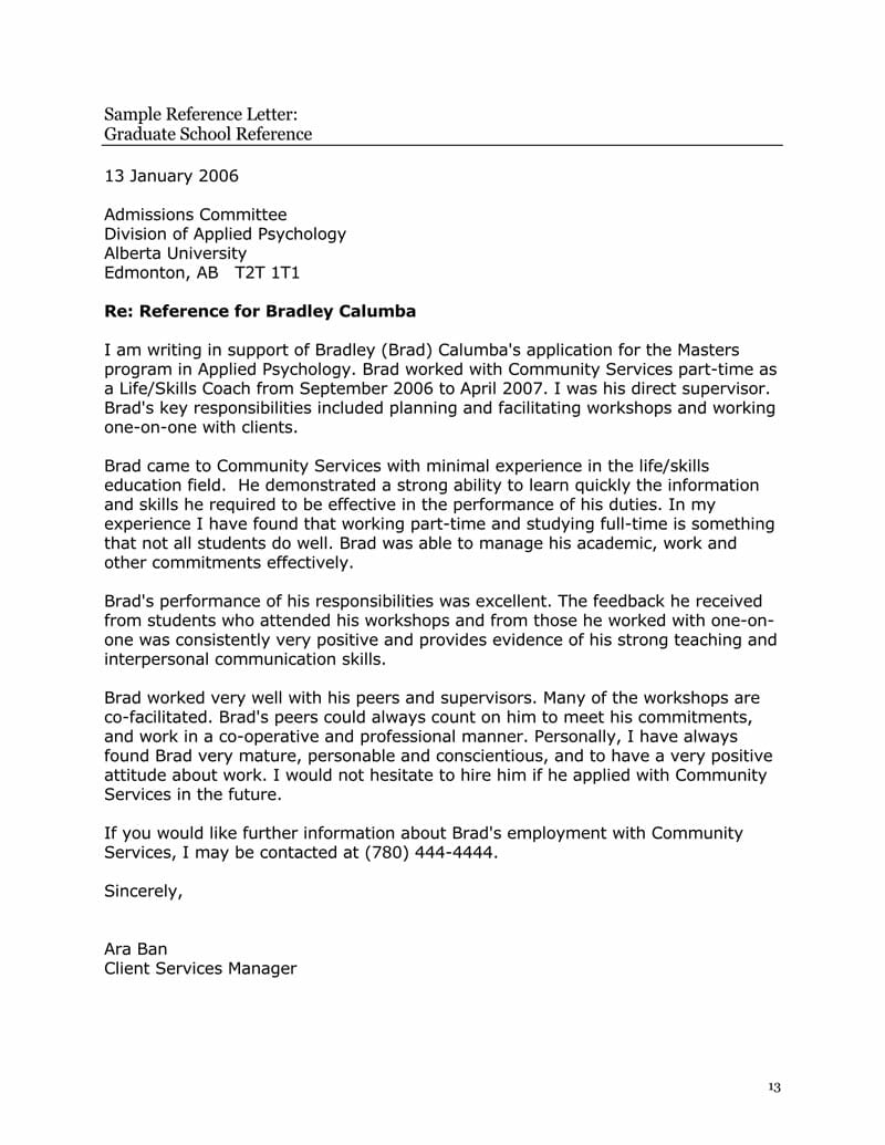 Sample Reference Letter For Student Enom with regard to sizing 800 X 1035