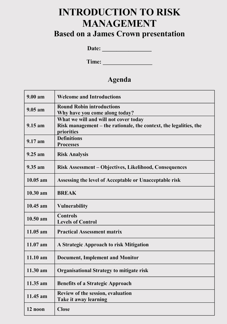 Strategic Management Meeting Agendas 10 Free Templates with sizing 750 X 1069