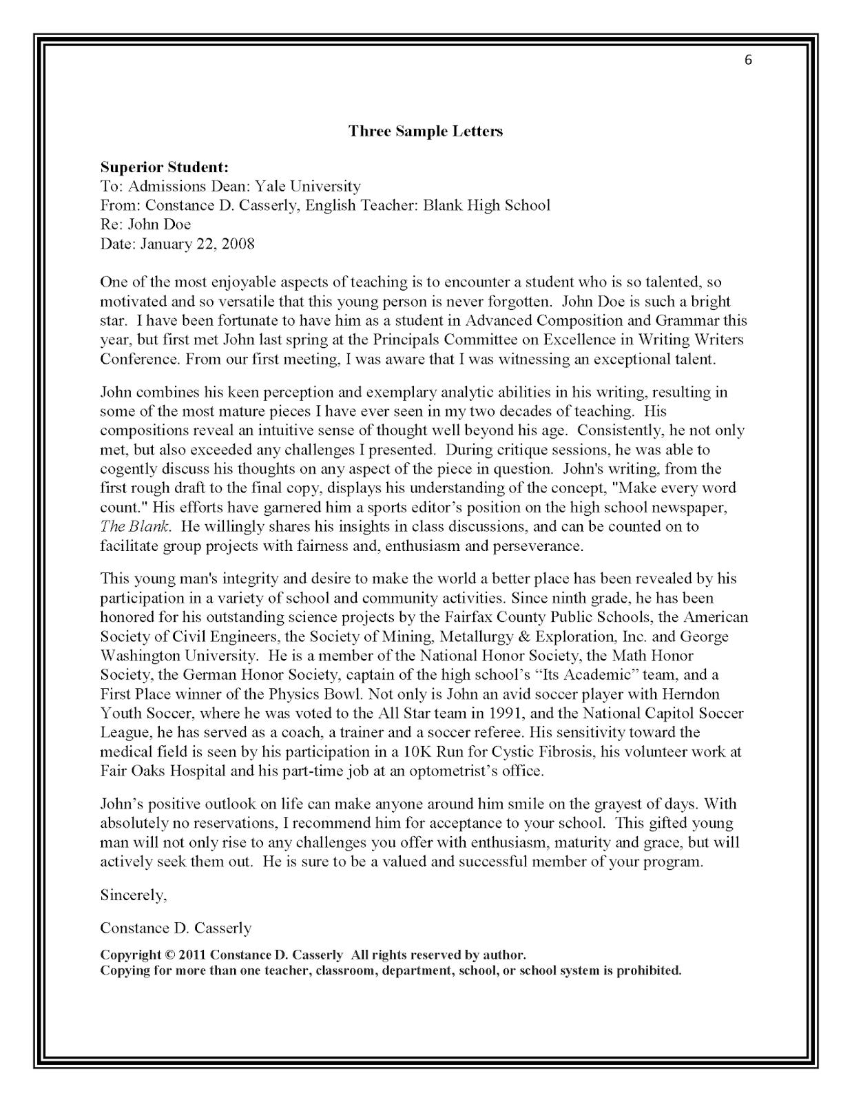 Ucas Recommendation Letter Debandje with regard to size 1237 X 1600