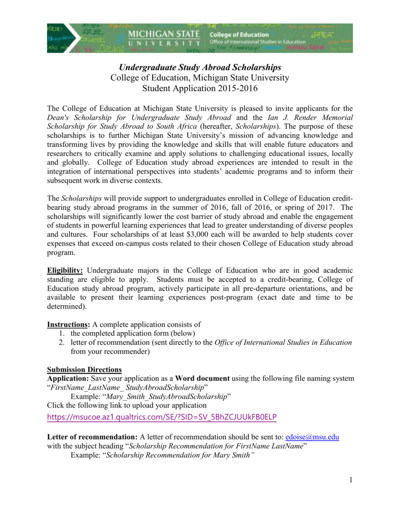 Recommendation Letter To Study Abroad Sample • Invitation ...